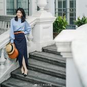 半裙 复古三木三呢同款 2019春超火法式 优雅图片