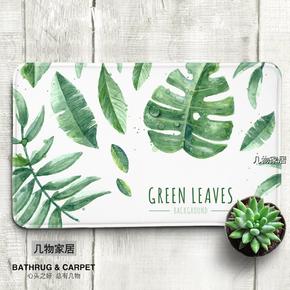[几物]楼梯卧室门口地毯卫浴地垫吸水防滑懒人地毯-绿植系列