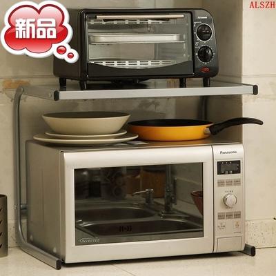 欧润哲 台湾进口灰色加高M字款微波炉架 烤炉架 烤箱架双层厨房包邮