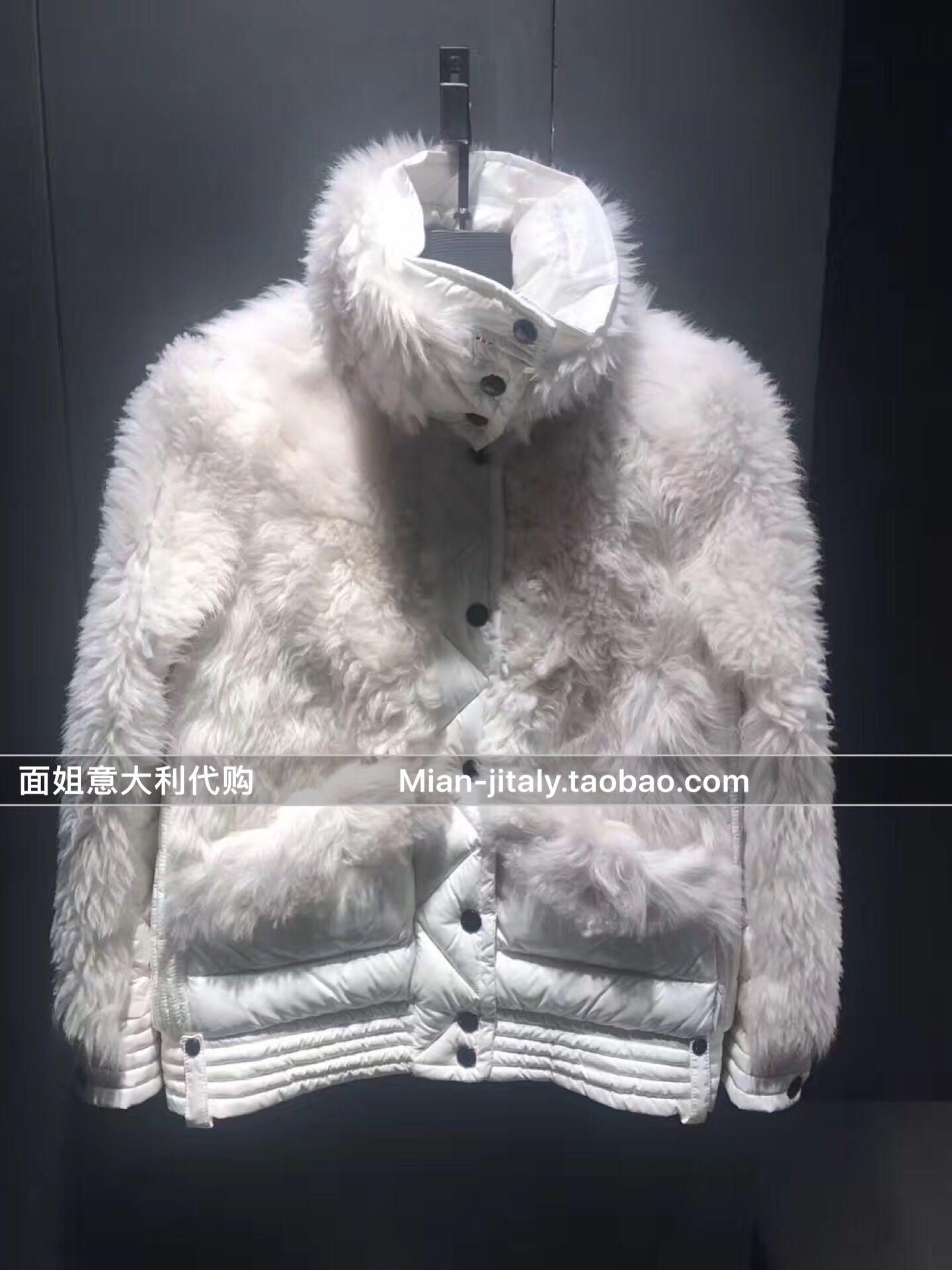 面姐代购 MONCLER/蒙口 SIBELLES毛毛拼接高领长袖羽绒服 17秋冬