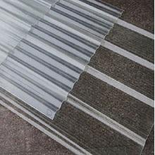 FRP屋顶透明采光板防护平板彩钢雨棚蓝色1.2厂价瓦片玻璃塑料实心图片