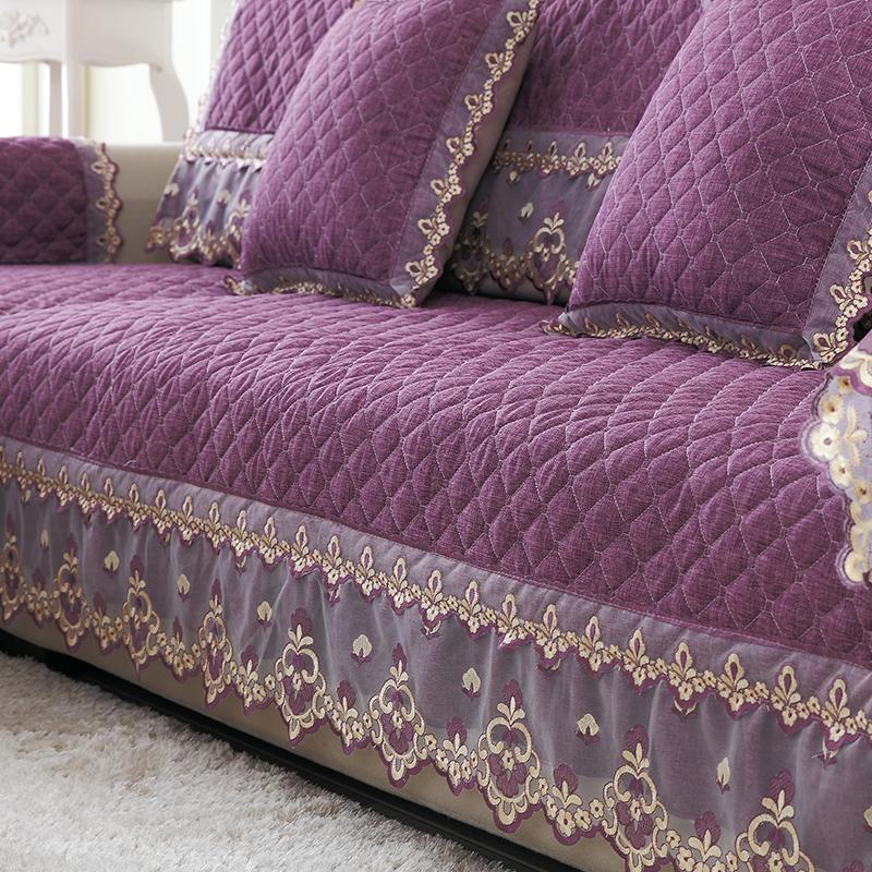 实木沙发垫纯色亚麻