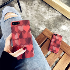 Matte texture embossed love Apple 6 mobile phone shell iPhone7plus/8/6s/X creative personality set female models Apple X/Xs/Max/XR mobile phone shell