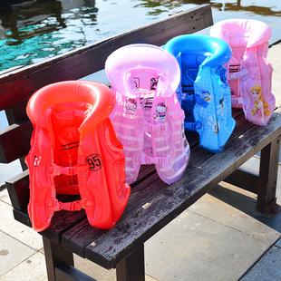 正品米奇公主儿童充气游泳背心宝宝救生衣男童女童游泳装备