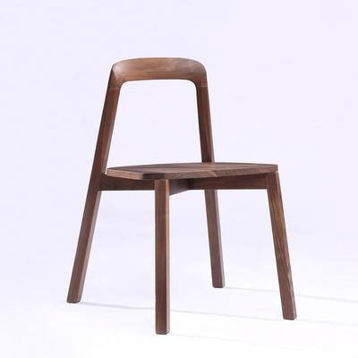 北美黑胡桃纯实木餐椅02款餐桌椅组合休闲椅现代简约家具餐厅椅子在哪买