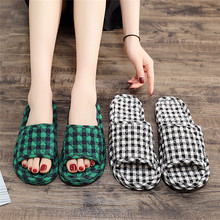 2009 cloth art cloth sole slippers wooden floor mute indoor soft sole spring and summer women can machine wash household summer four seasons