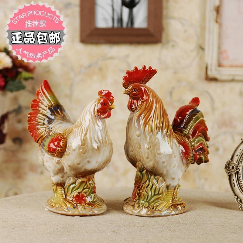 陶瓷鸡摆件 欧式