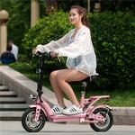 电动自行车女性小型锂电电瓶车迷你电单车轻便成人子母折叠代步车