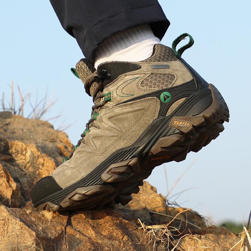 美国悍途户外男鞋徒步鞋防水防滑加绒山地鞋冬季高帮运动登山鞋男
