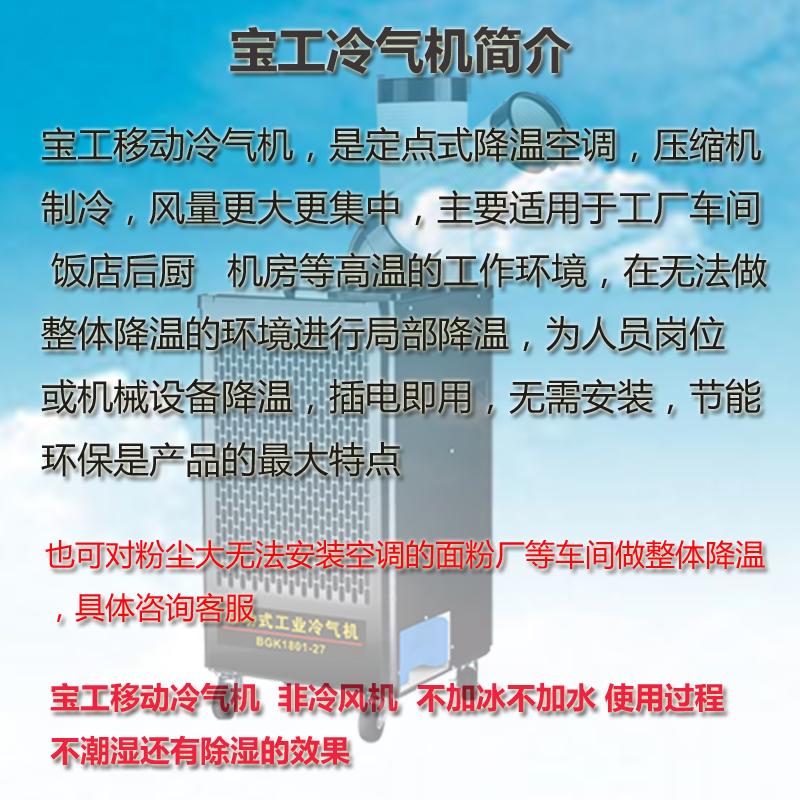 宝工移动工业冷气机 机柜电气柜散热空调 厂房厨房车间岗位降温