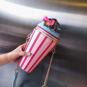 搞怪包2018夏季新款honey蹦迪可爱少女小斜挎包包冰激凌个性创意
