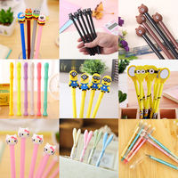 Korea stationery cute cartoon creative gel pen small fresh water pen black pen student supplies wholesale