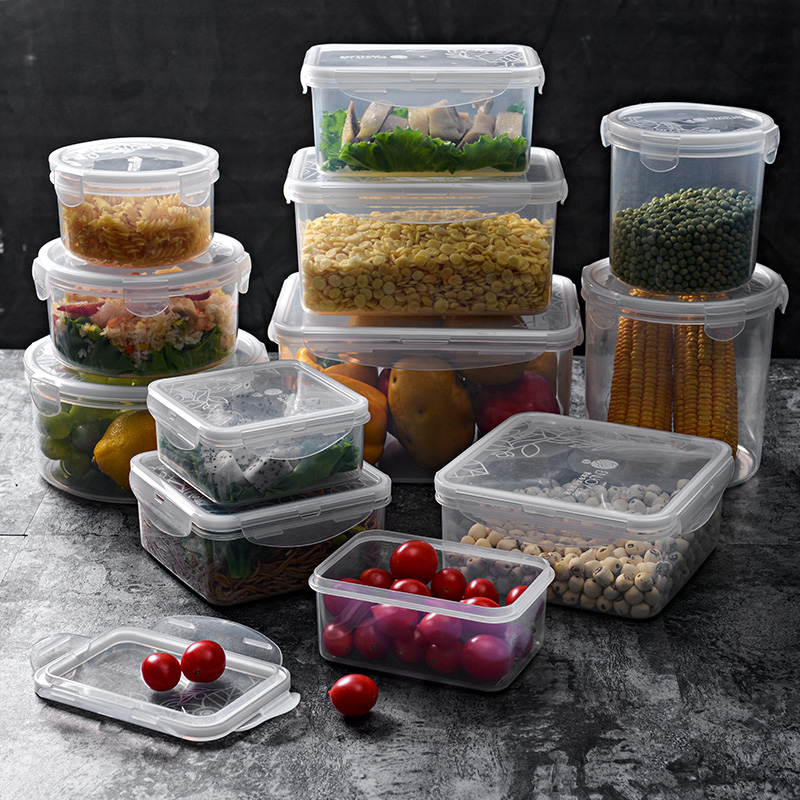 塑料饭盒长方形保鲜盒