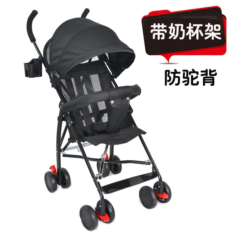 简易婴儿四轮推车手推伞车超轻便携折叠宝宝儿童小推车迷你可坐夏