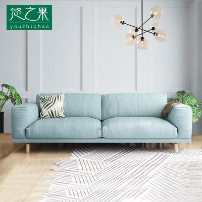 北欧羽绒布艺沙发