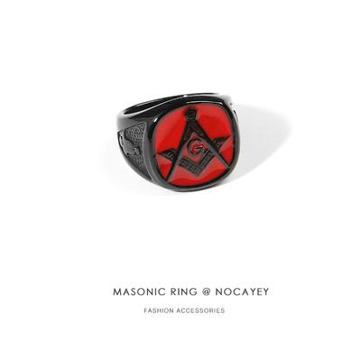 诺卡伊欧美时尚戒指复古情侣对戒钛钢个性男女尾戒潮牌指环配饰品
