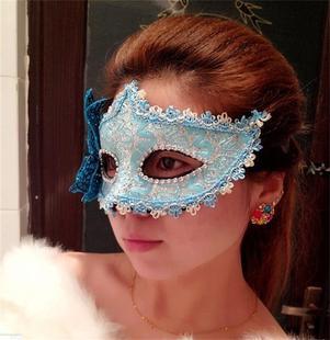 情趣眼罩夫妻调情成人男女用眼罩情趣用品蕾丝面纱舞会半脸面具s