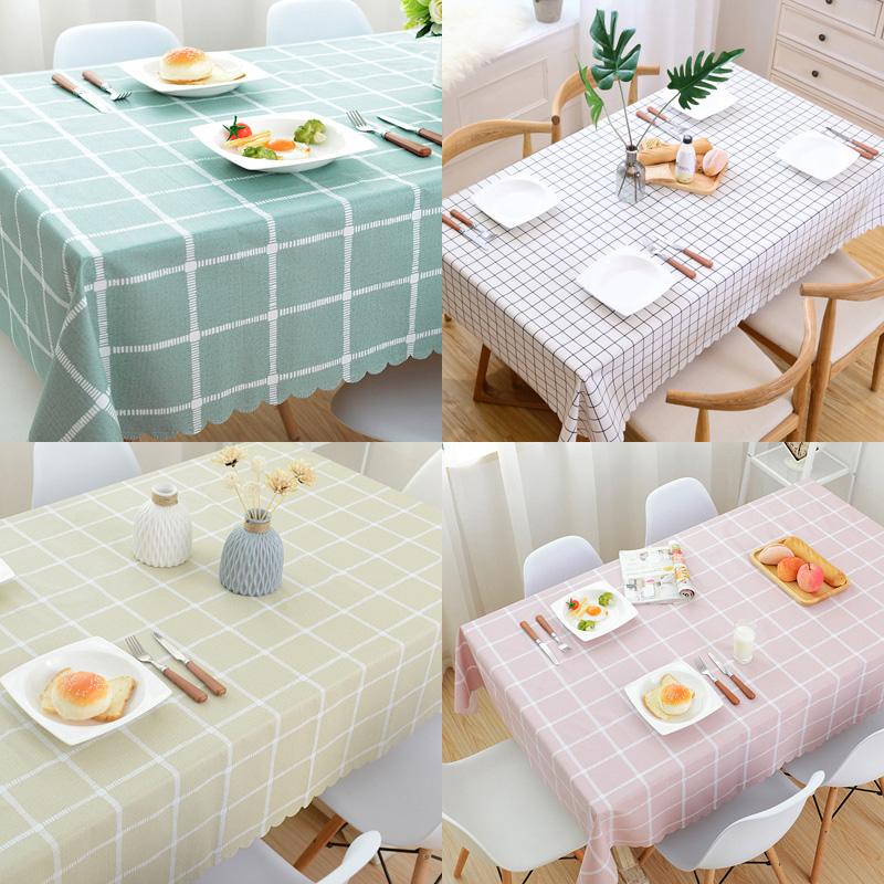 桌布防水防油防烫免洗pvc餐桌布布艺北欧网红ins长方形台布茶几垫