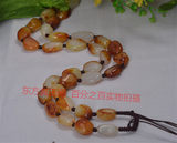 Hotan Jade and White Jade Seed Material Raw Stone Necklace Hanging Chain