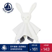 Petitbateau小帆船2018春夏新品可爱柔软兔子婴儿被子安抚巾43934