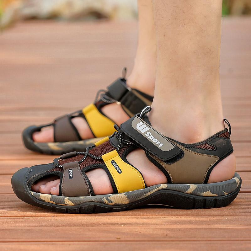 夏季透气男士凉鞋2018新款运动凉鞋男潮休闲鞋软底防滑沙滩鞋男夏