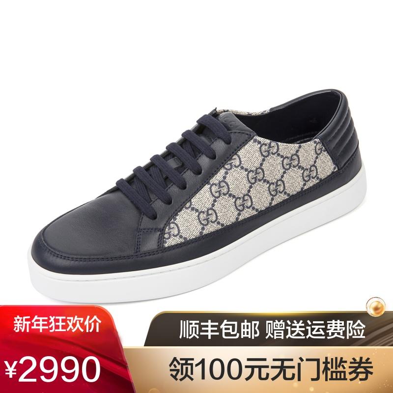 Gucci/古奇古驰 新款男士休闲鞋低帮男鞋 433716 A9LN0
