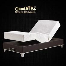 Gotolatex/歌蕾丝气泵推背按摩一体式单人按摩升降床架智能电动床