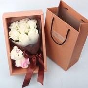 情人节七夕送女朋友生日礼物玫瑰花束肥皂花礼盒韩国创意香皂花束
