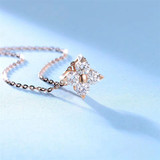 Sweet Autumn/Tang Qiu Jewelry 18K Natural Diamond Pendant Custom