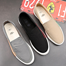 Canvas Shoes, Men's Lower Up, Lazy People's Leisure Shoes, Spring and Summer Trends, Air-permeable Young Men's Shoes