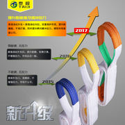 GB white flat sling with double buckle ring industrial sling driving crane lifting 5 tons 3 tons 2T4 meters 10