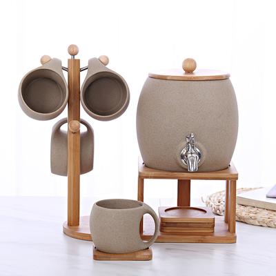 陶瓷冷水壶杯具套装创意家用凉水壶杯子耐高温花茶饮料壶水具送礼