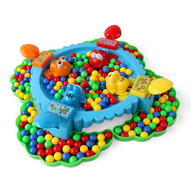 青蛙吃豆双人趣味亲子对战桌面互动家庭桌游贪吃青蛙抢珠益智玩具