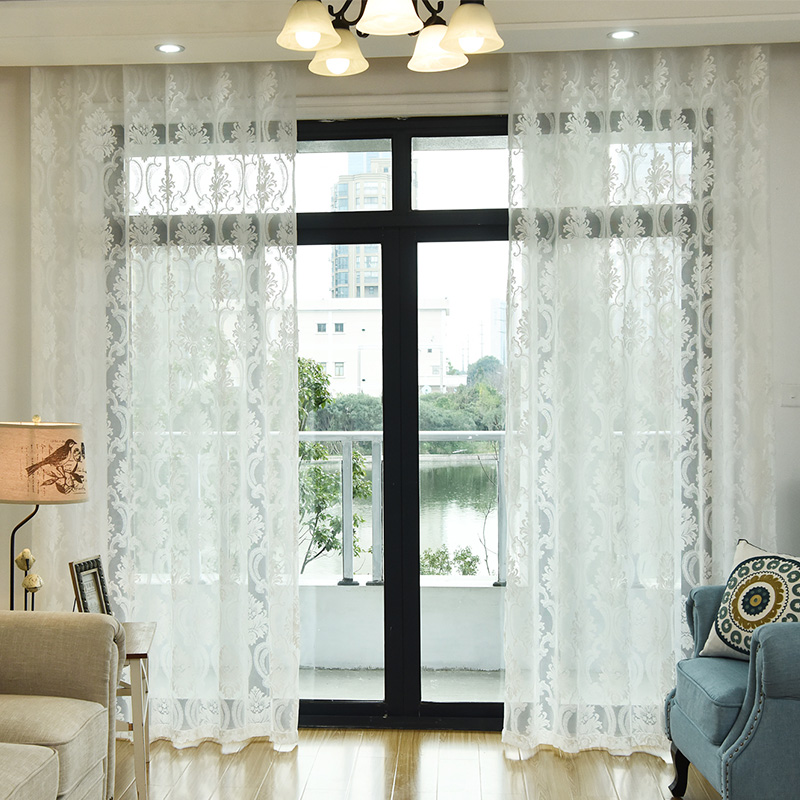 窗帘纱帘窗纱客厅欧