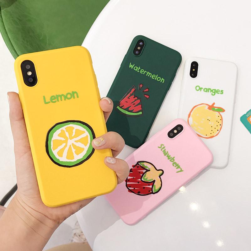 西瓜 手机壳 iphone 硅胶