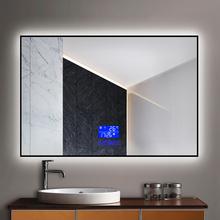 艾靓触摸屏灯镜壁挂led带灯光发光浴室镜智能防雾卫浴透光镜子