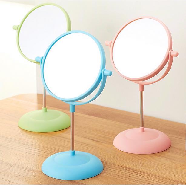 台式双面镜公主化妆镜旋转梳妆镜欧式环保耐用美容美妆桌面小镜子