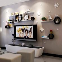 电视背景装饰架影视墙上置物架客厅墙面搁板创意格子隔柜壁挂卧室