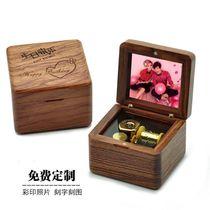 若态旋转木马八音盒音乐盒手工拼图模型闺蜜女生节日生日创意礼物