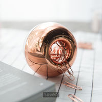Never brand rose gold round magnetic box paper clip fashion paper clip lock pin pin difference needle bookmark
