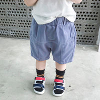 Summer children's clothing 2019 new Korean children's five pants pants wild 1-5 years old baby woven casual pants pants