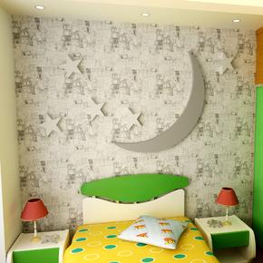 科翔 壁纸儿童房墙纸男孩创意卧室无纺布墙纸卡通蓝色地中海壁纸