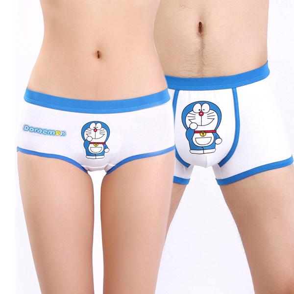 韩版情侣内裤全棉男士女个性感内衣卡通可爱平角裤头套装包邮