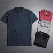 简约短袖 速干运动户外宽松大码 男装 T恤休闲翻领POLO衫 轻薄透气