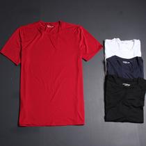【科技面料】保持凉爽 超薄好弹力纯色圆领男T恤夏装体恤修身短袖