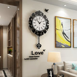 European wall clock living room household modern simple atmosphere retro clock personality creative fashion art decorative wall watch