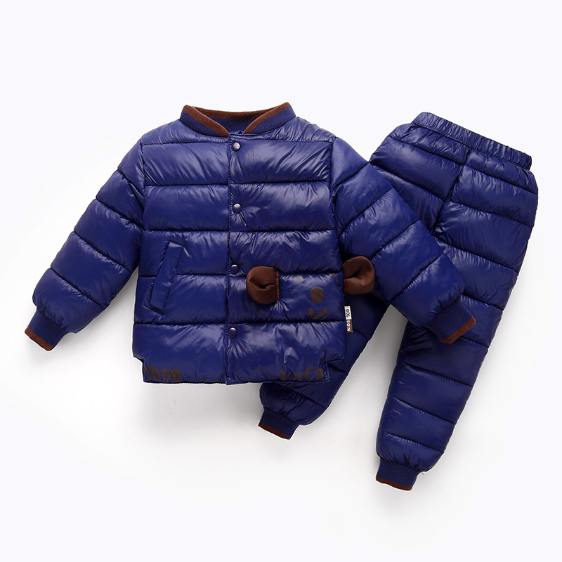 儿童羽绒棉服内胆男童女童童装外穿套装中小童裤子宝宝外套两件套