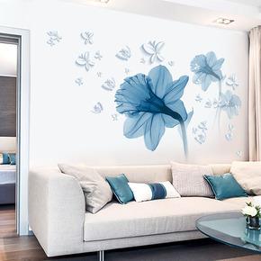 欧式创意花卉贴画房间装饰品防水贴纸墙面壁纸大学生宿舍墙纸自粘