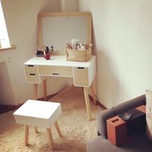 欧式梳妆台化妆台北欧简约现代迷你化妆桌卧室小户型经济型白色