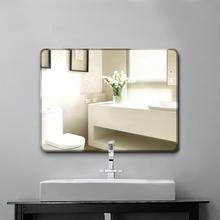 镜子贴墙定做浴室镜子免打孔壁挂卫生间镜无框洗手间厕所化妆镜